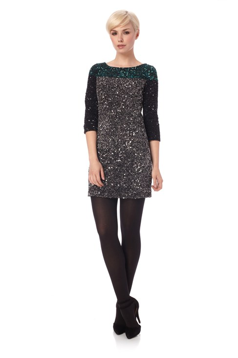 Spiegal Sequins Tunic Dress