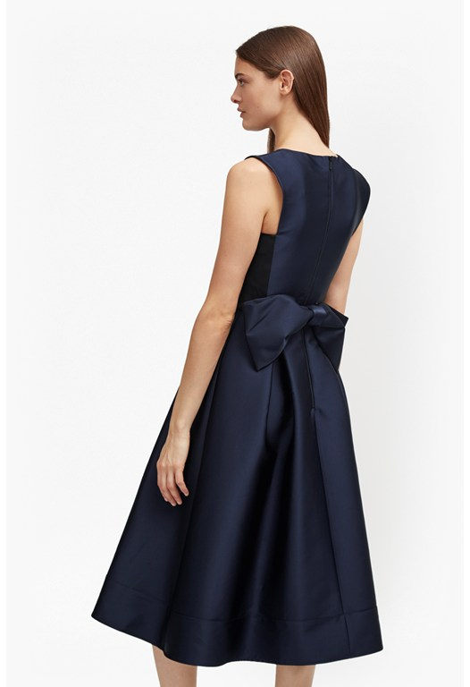 Juliet Satin Bow Midi Dress