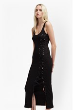Looks Great With Tommy Rib Lace Up Maxi Dress