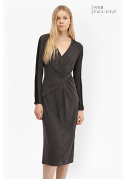 Wool Drape Jersey Dress