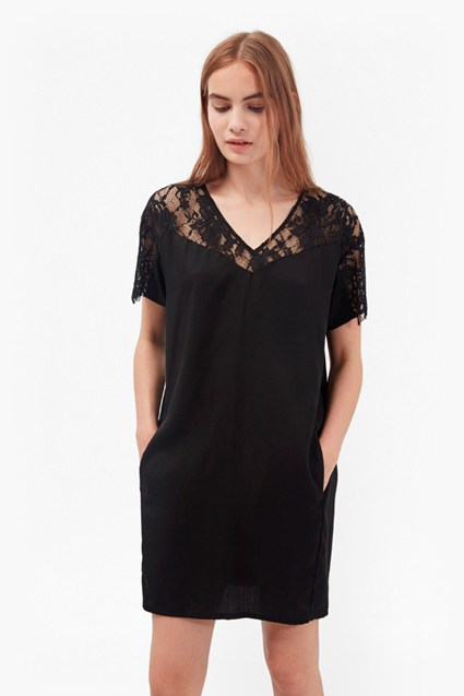 Midnight Tencel Lace Dress