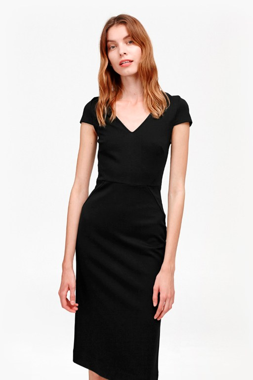 Lula Stretch Fitted Midi Dress