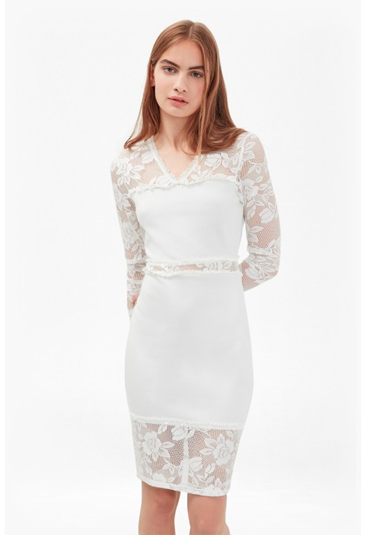 Lucky Layer Lace Long Sleeved Dress