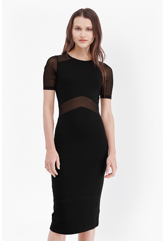 Arrow Mesh Fitted Dress