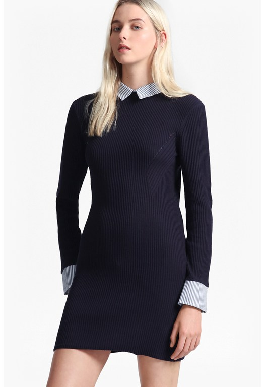 45 Degree Rib Knit Dress