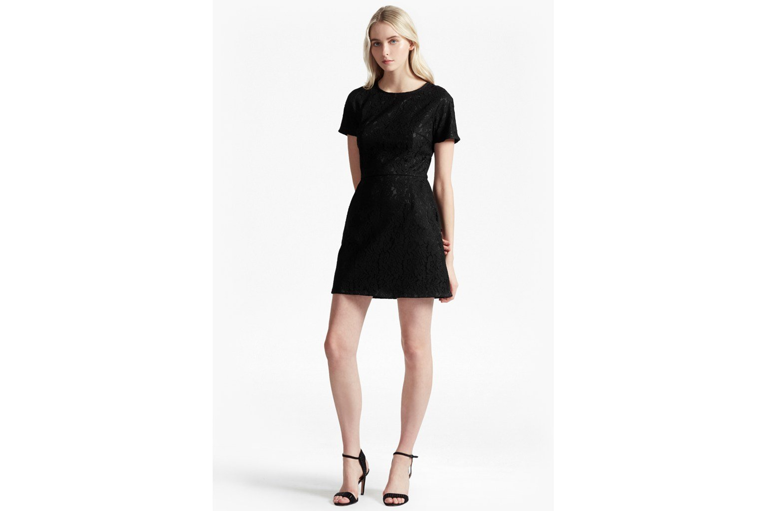 Isabella Lace Flared Sleeves Dress