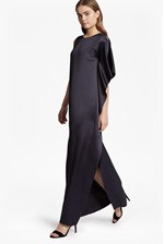 Looks Great With Sasha Satin Fluted Maxi Dress