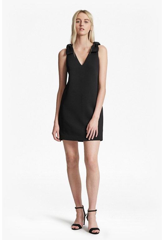 Token Shoulder V Neck Dress