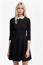 Looks Great With Fresh Jersey Shirt Collar Dress