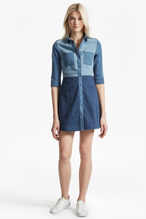 Edie Denim Shirt Dress