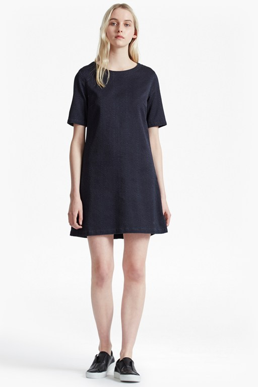 Animal Denim Jacquard T-Shirt Dress