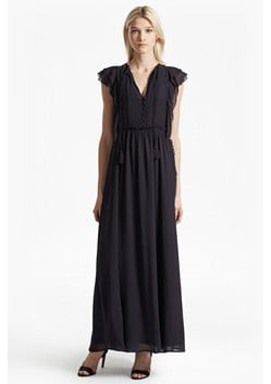 Sophie Sheer Tie Waist Maxi Dress