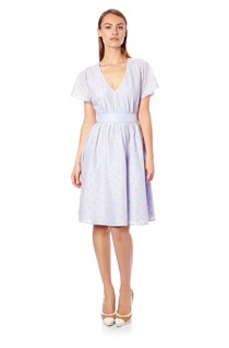 Berry Voile Fan Dress