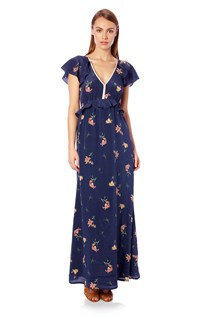 Lilly Anna Silk Maxi Dress