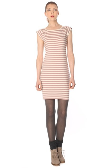 TOULOUSE STRP CAPPED SLV DRESS