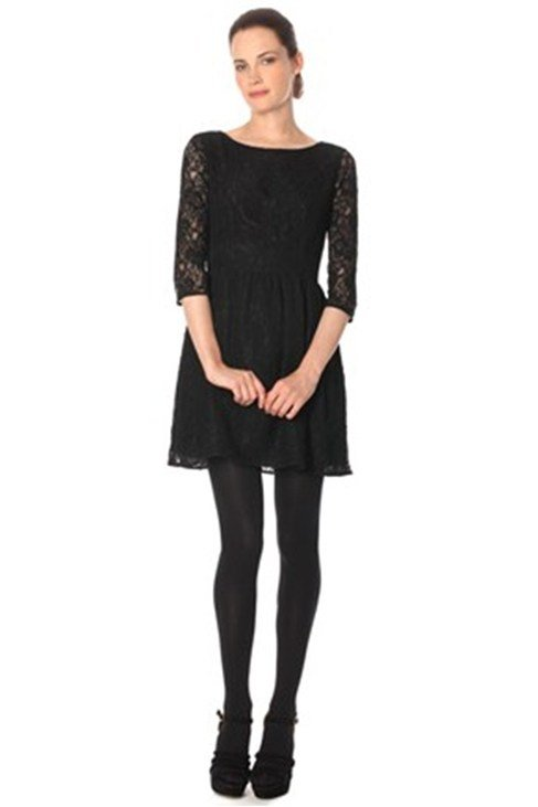 VAITY LACE L/S FLARED DRESS