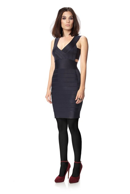 SPOTLIGHT KNITS SIDE STRAP DRESS