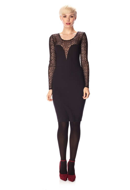 Lori Lace Jersey Dress