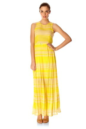 LONDON ROCK STRIPE MAXI DRESS
