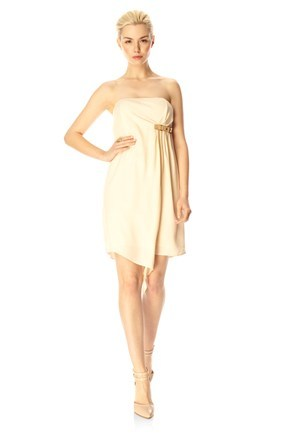 FARROW CREPE STRAPLESS DRESS