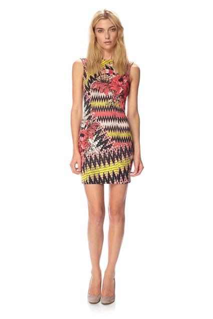 Zig Zag Floral Dress