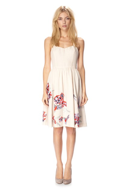 Eudora Embroidered Halter Dress