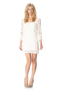In Bloom Crochet Ls Rdnk Dress