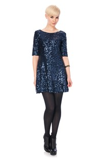 Ozlem Sequins Flared Dress
