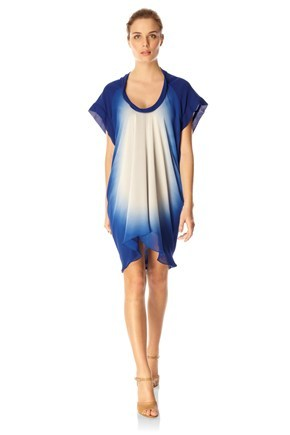 SUN GAZE S/S SCOOP NK DRESS