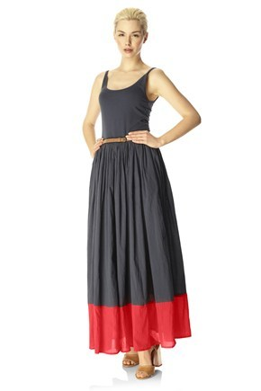 MARIONETTE MIX STRAPPY MAXI DRESS