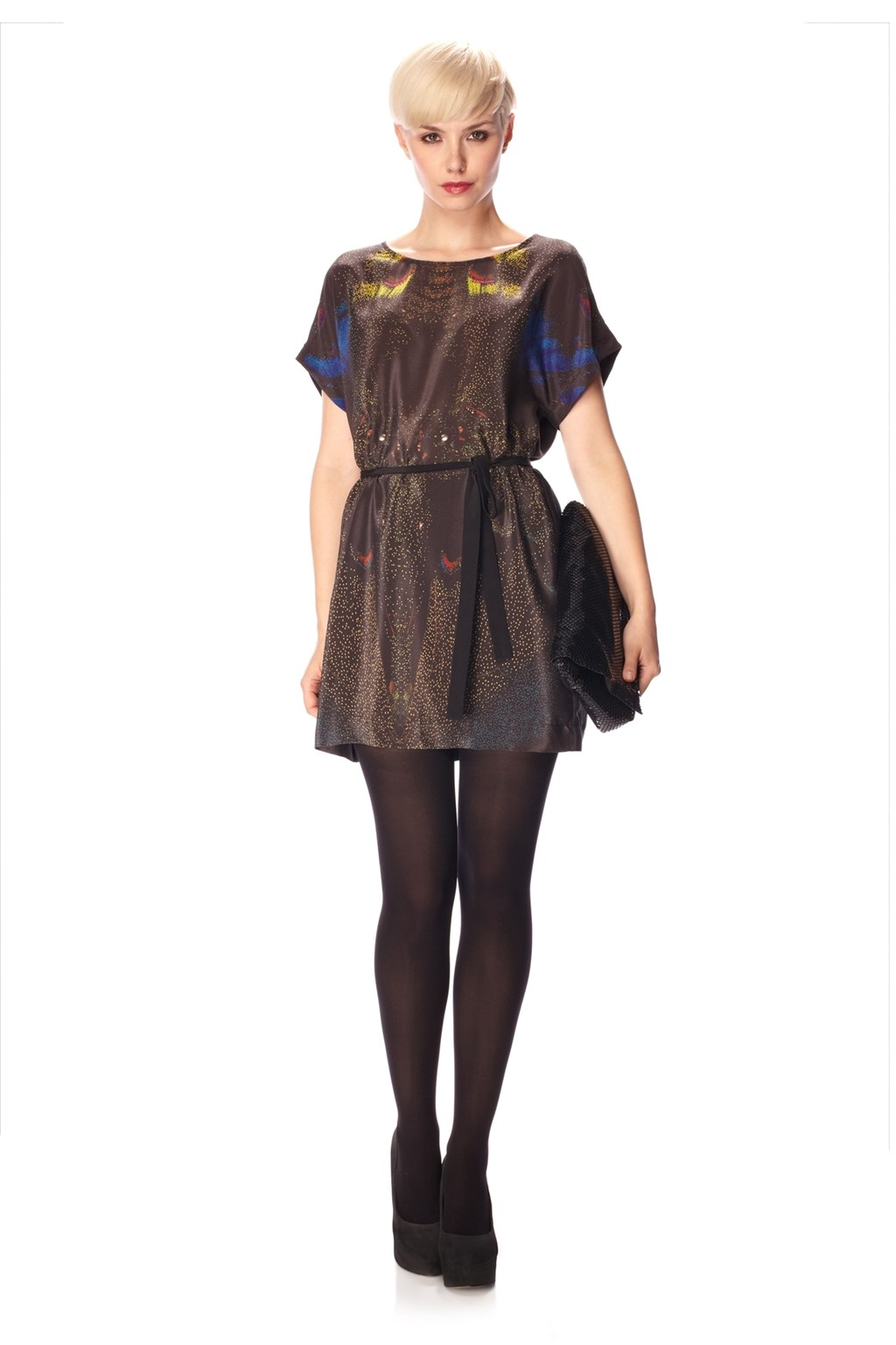 Dreamscape Silk T Shirt Dress Old Hidden Styles French