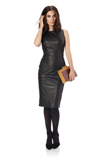 Block Leather Dress