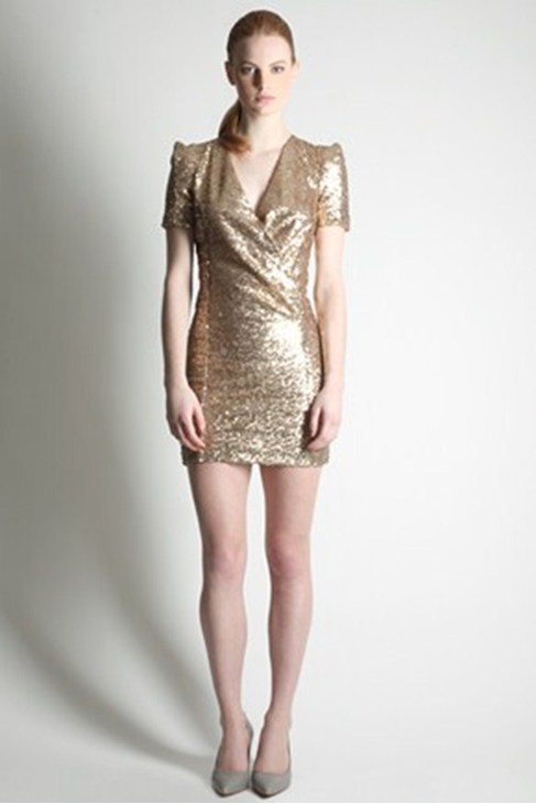 Golden Samantha Sequin Dress