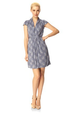 CASCADE JERSEY TIE DRESS