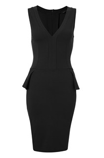 Eleanor Stretch V/Neck Dress