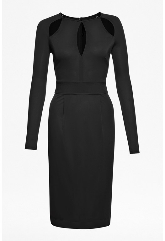 Mona Crepe Long-Sleeved Jersey Dress