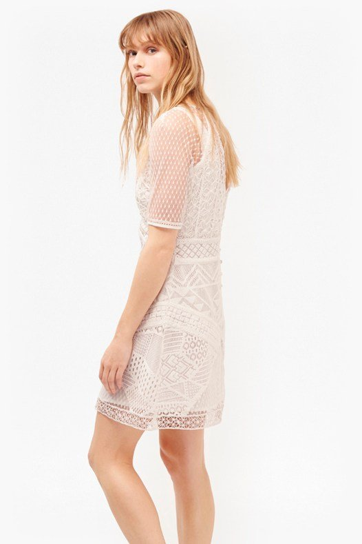 Rene Lace and Crochet Mix Dress