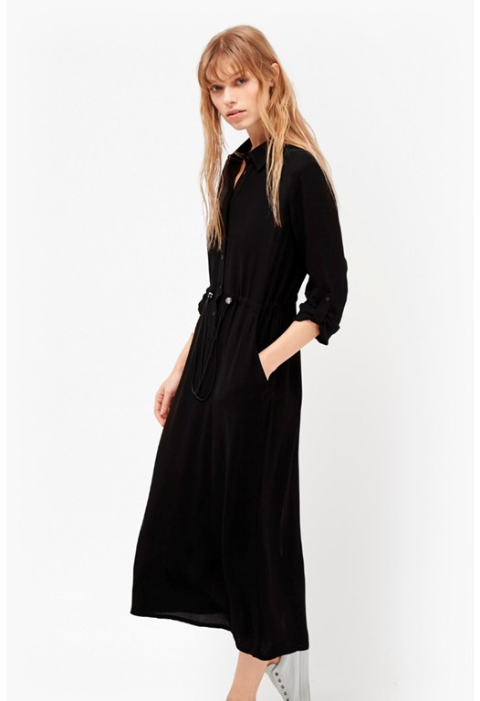 Cecil Drape Shirt Dress