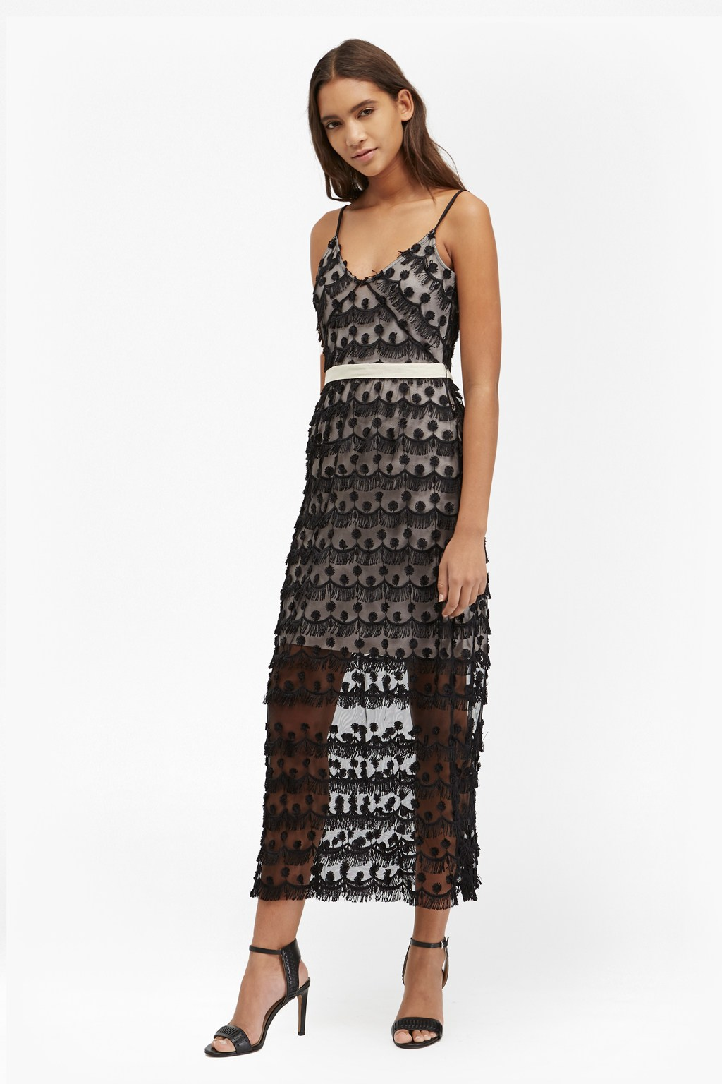 Tassel Beach Textured Maxi Dress   Sale   French Connection Usa