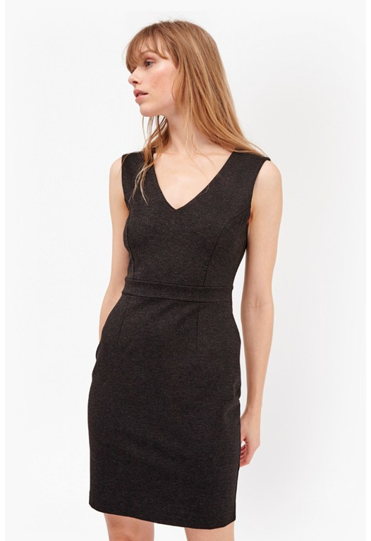 Nadine Stretch V Neck Dress