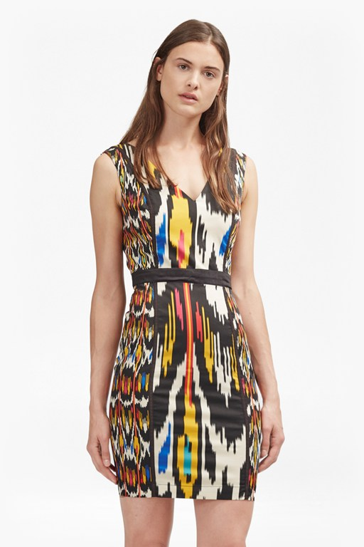 Complete the Look Matos Stripe Cotton Printed Dress