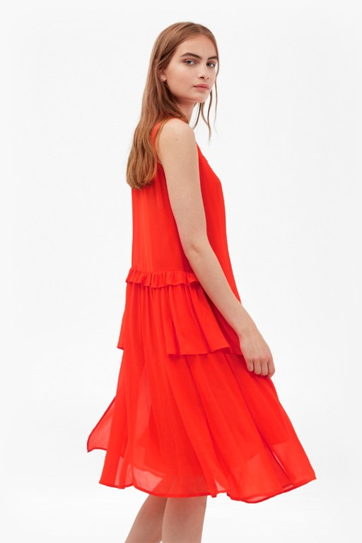 rosie drape ruffled dress
