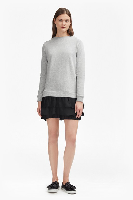 Complete the Look Tommy Pleated Georgette Sweatshirt Dress