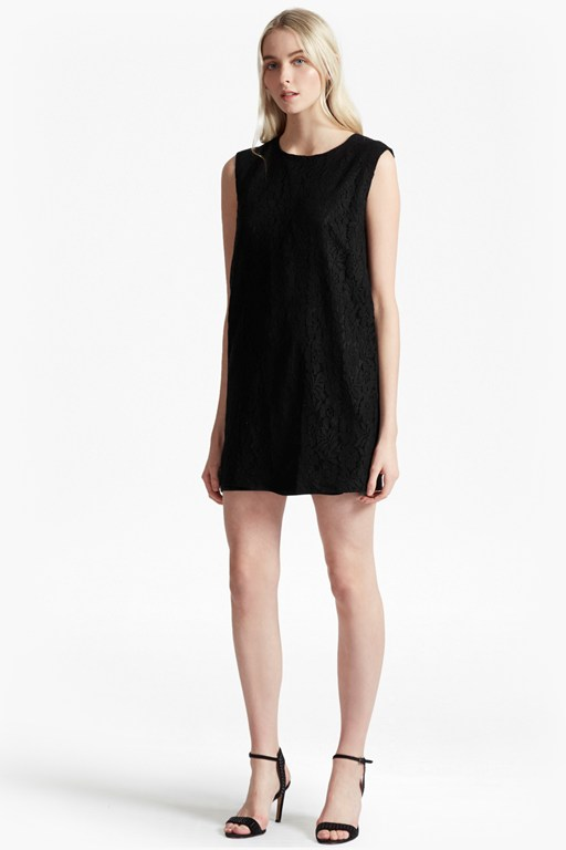 isabella lace shift dress