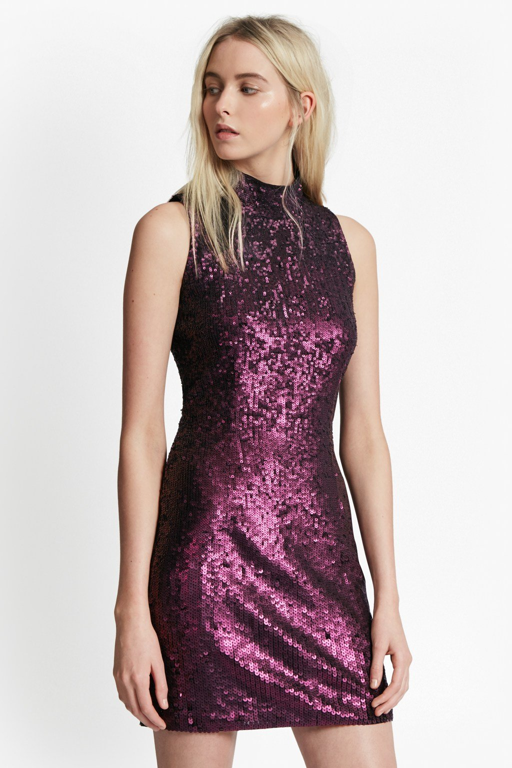 Starlight Sparkle High Neck Sequin Dress | Sale | French Connection Usa