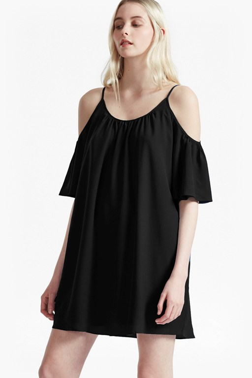 polly plains cut-out sholder dress