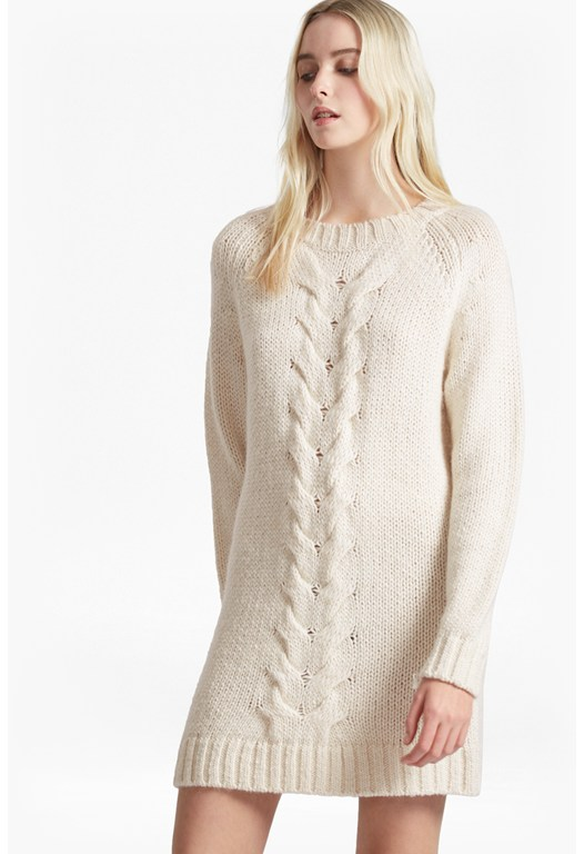 High Ridge Cable Knit Jumper Dress