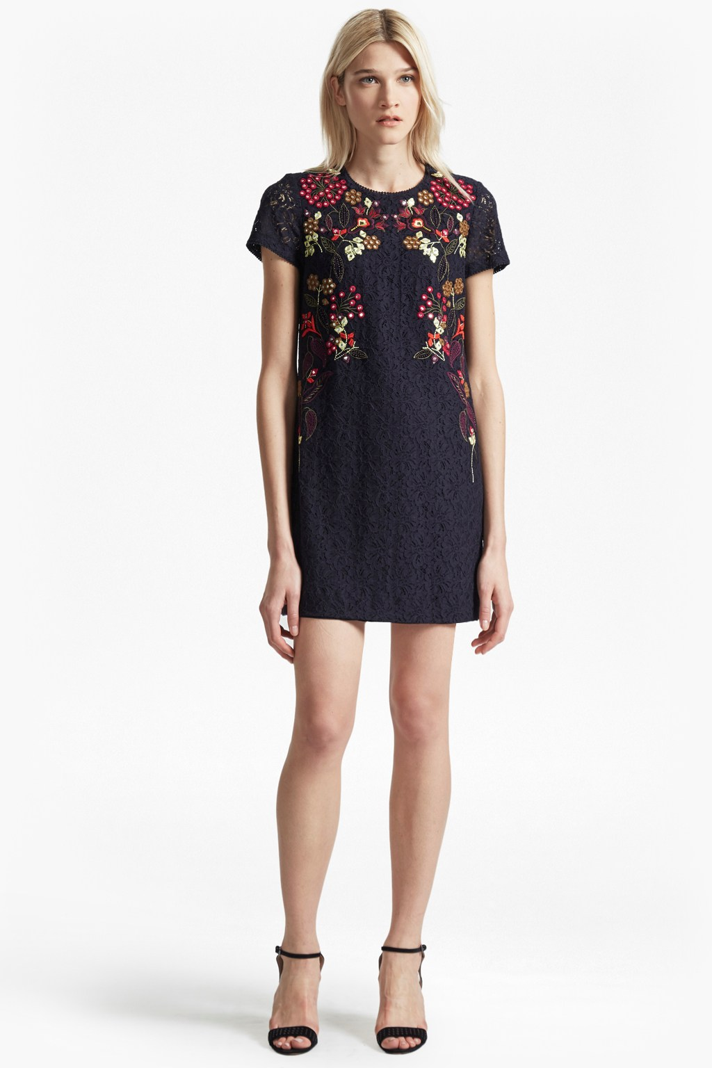 Legere Lace Floral Embroidered Tunic Dress | Sale | French ...