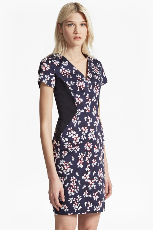 Complete the Look Eva Cotton Leaf Print Dress