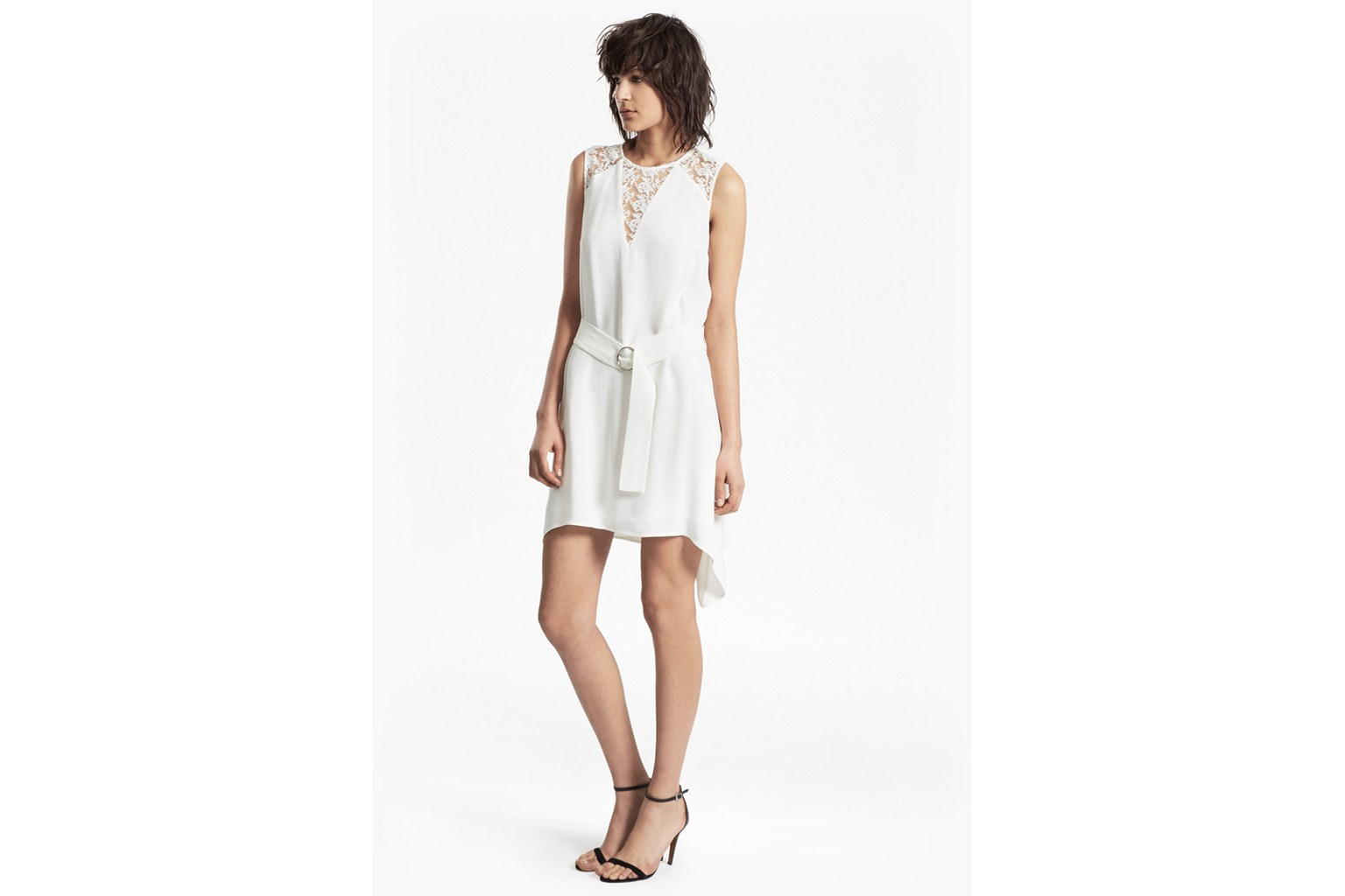 Hennessy Drape Belted Mini Dress